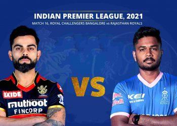16th Match of IPL Royal Challengers Bangalore vs Rajasthan Royals
