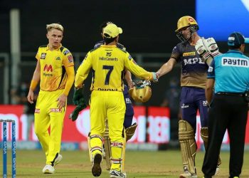 IPL Chennai Super Kings versus Kolkata Knight Riders