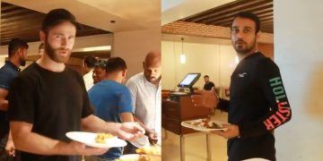 Sunrisers Hyderabad shares the video of players enjoying their dinner together