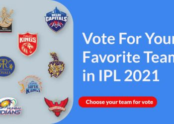 Vote For Your Favorite Team in IPL 2021