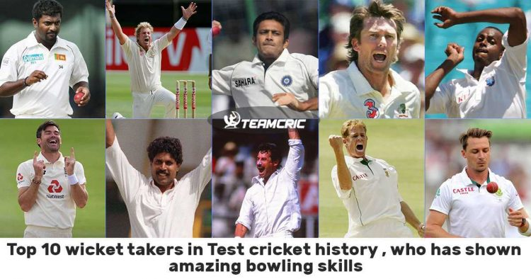 Top 10 wicket takers in Test cricket history
