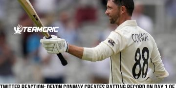 Twitter Reaction Devon Conway creates batting record on Day 1 of the first Test against England