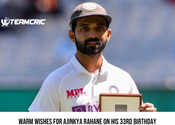 Warm wishes for Ajinkya Rahane on his 33rd birthday