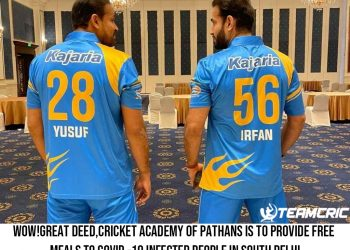 Wow!Great deed,Cricket Academy of Pathans is to provide free meals to COVID -19 infected people in South Delhi