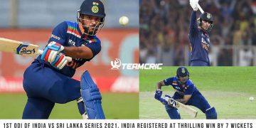 1st ODI of India vs Sri Lanka series 2021
