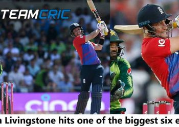 Liam Livingstone hits one of the biggest six ever